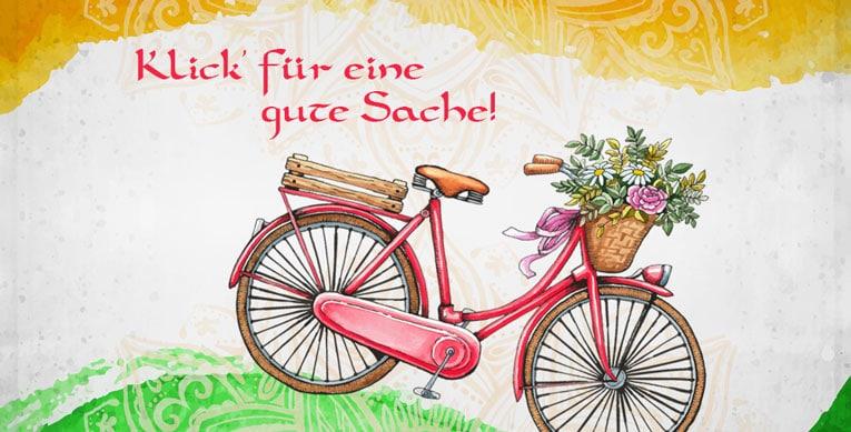 Indien nach Fahrrad