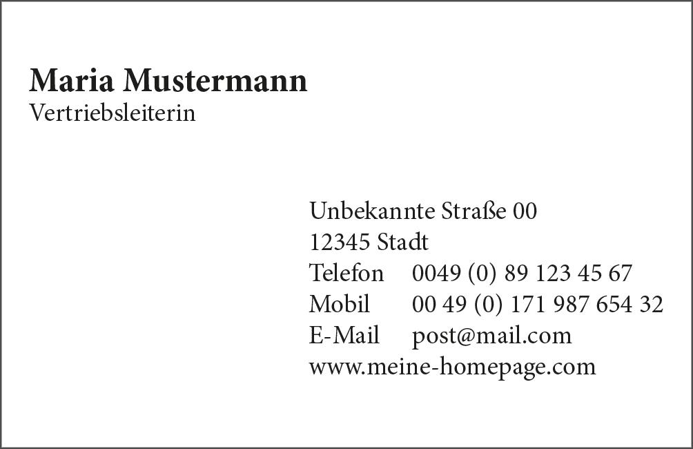 Visitenkarten Quick N Dirty Dein Copyshop In München Giesing