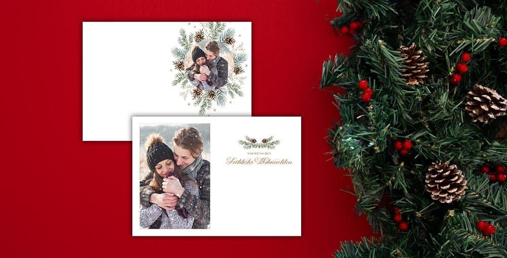 personalisierte weihnachtskarte mit foto
