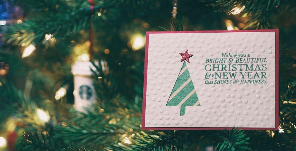 Weihnachtskarte in der Coronazeit